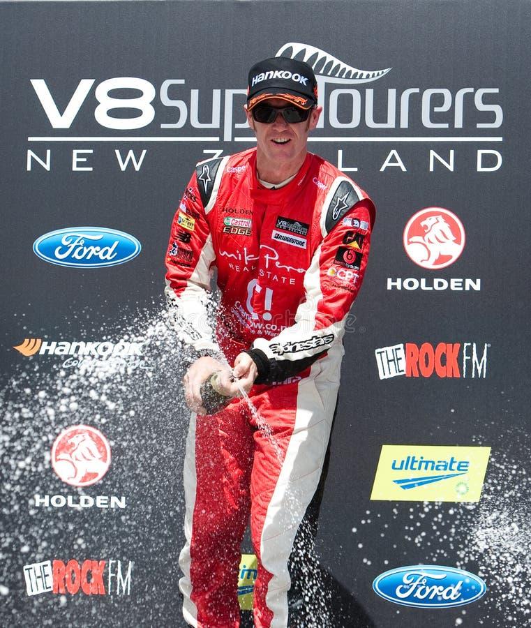 Motorsports - V8 de Winnaar Greg Murphy van Supertourers royalty-vrije stock afbeelding