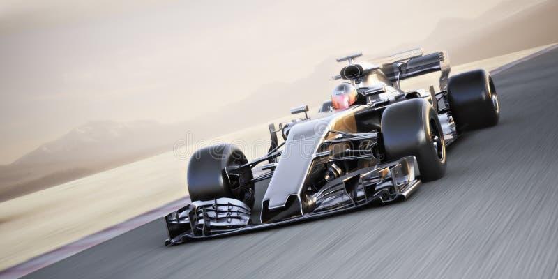 Motorsportwettkampf Schnell bewegendes Generikaharren-Rennen auf der Strecke mit Bewegungsunschärfe stock abbildung