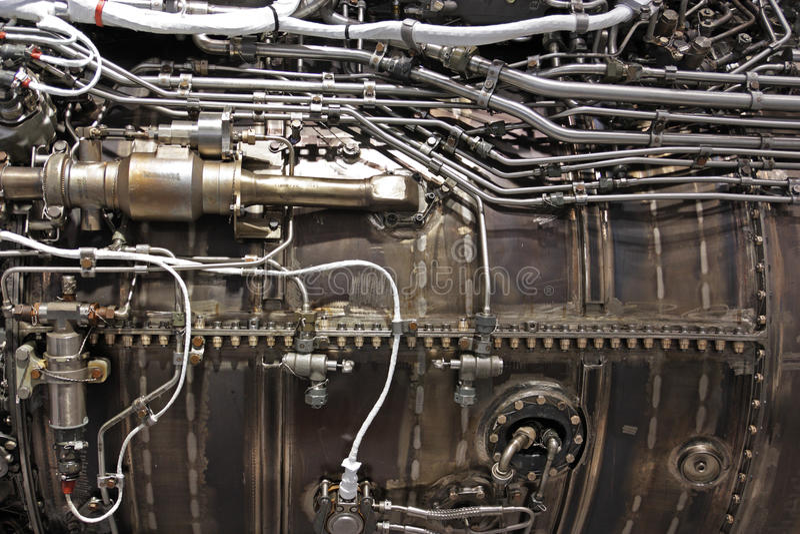 motorstråle turbo arkivfoton