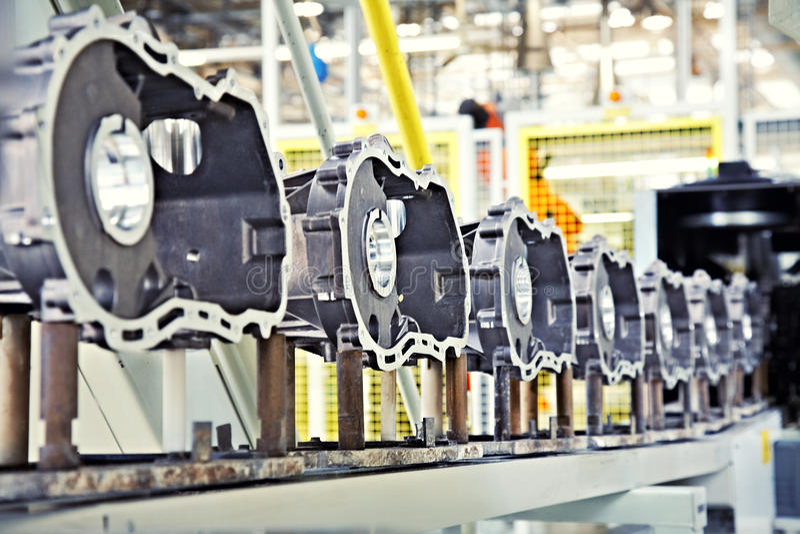 motortillverkningsdelar arkivfoto