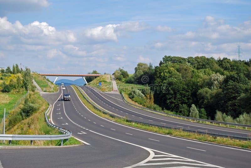 motorväg royaltyfri fotografi