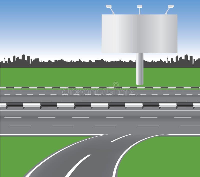 Download Motorway stock vector. Illustration of wide, suburban - 14575294