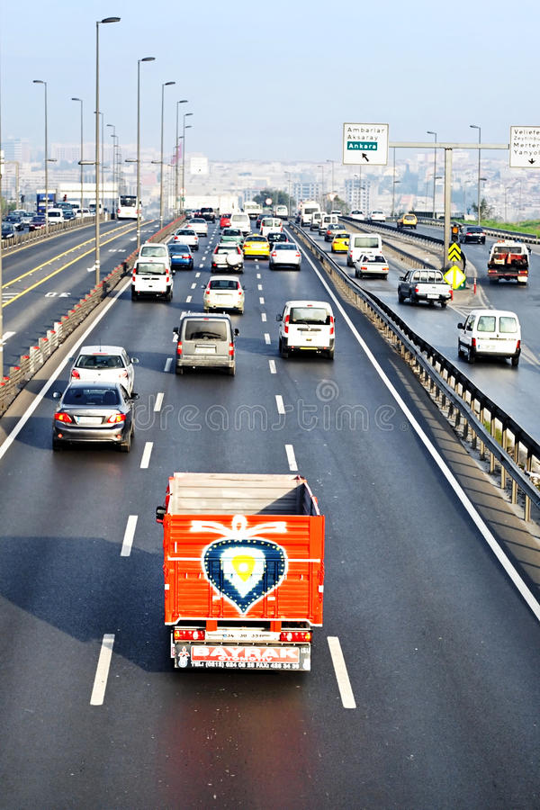 Motorway royaltyfria bilder