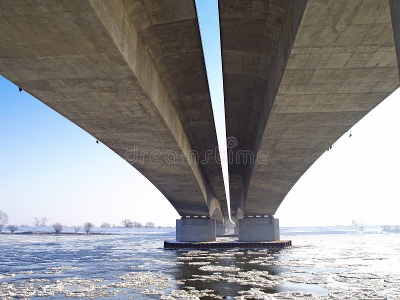 Motorway A1 Bridge Across The River Vistula Royalty Free Stock Image