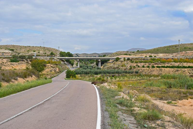 A Motorway Flyover Bridge In The Mountains With Stunning Scenery stock photography