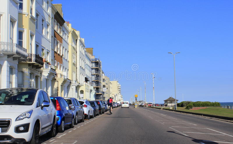 A 259 motorway Hastings United Kingdom. A 259 motorway in Hastings.Hastings is a town on England's southeast coast royalty free stock images