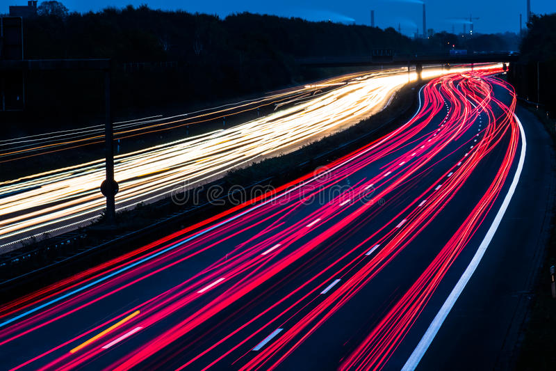 Download Motorway Long Time Exposure Stock Photo - Image: 83702844