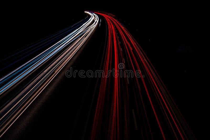 Download Motorway Long Time Exposure Stock Photo - Image: 83702862