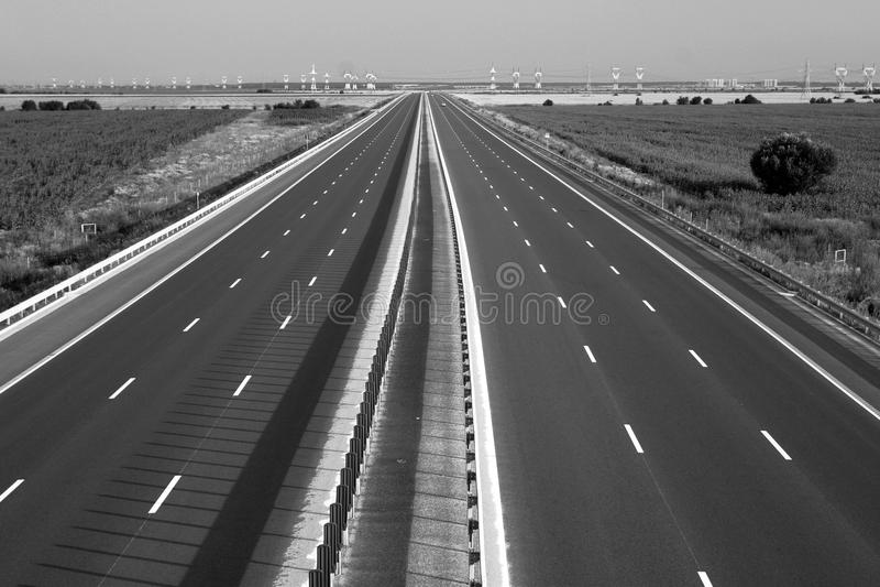 Motorway royalty free stock photo