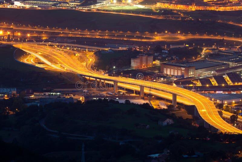 Motorway Portugalete royaltyfria foton