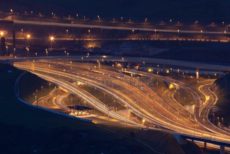 Motorway Portugalete arkivbilder