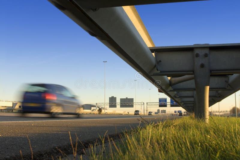 Motorway Safety Rail Royalty Free Stock Photos