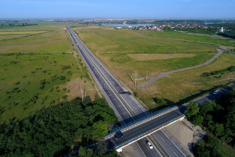 Motorway seen from above stock image