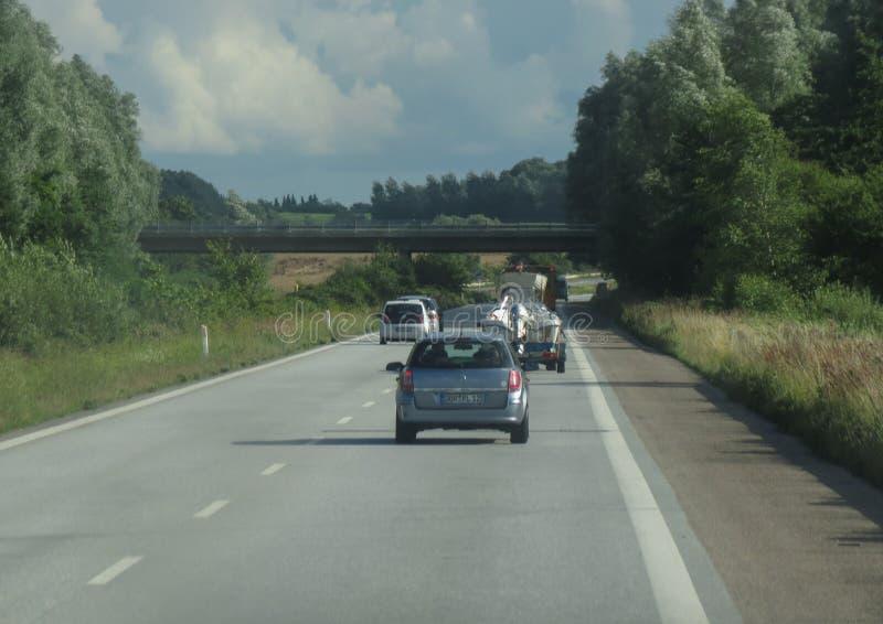 Motorway som leder till Köpenhamnen arkivbilder