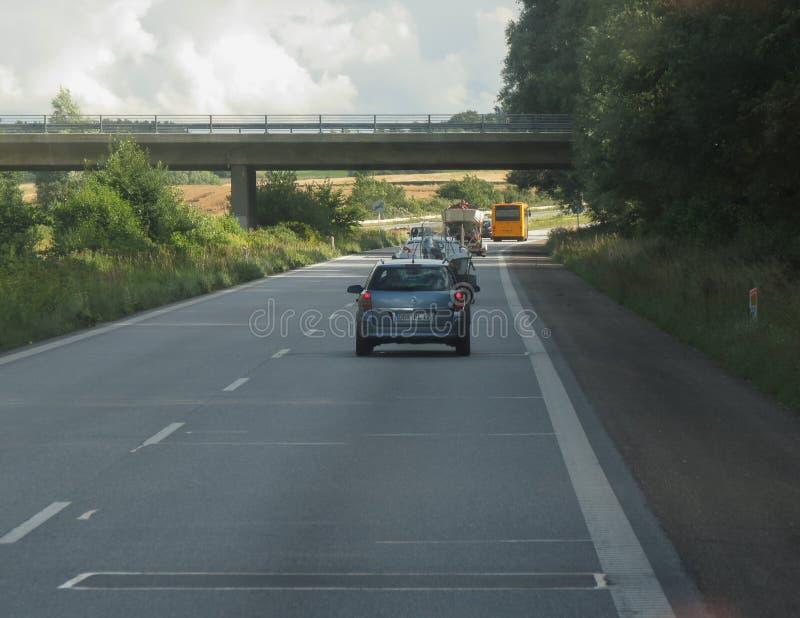 Motorway som leder till Köpenhamnen fotografering för bildbyråer