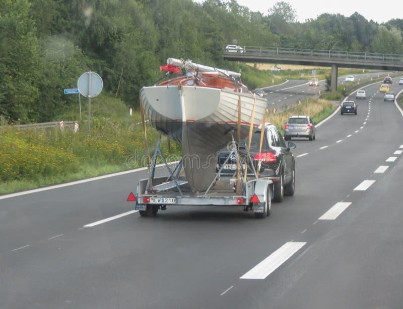 Motorway som leder till Köpenhamnen royaltyfri foto