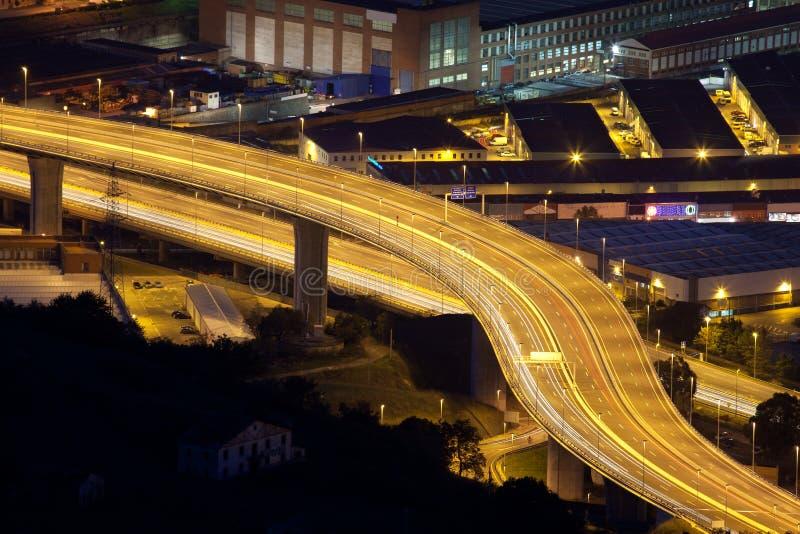 Motorway Trapaga royaltyfria foton