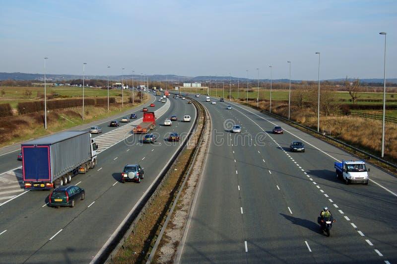 motorwaytrafik arkivbilder