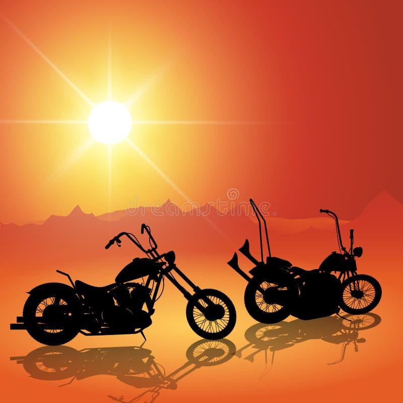 Download Motos au coucher du soleil illustration de vecteur. Illustration du activités - 56484184