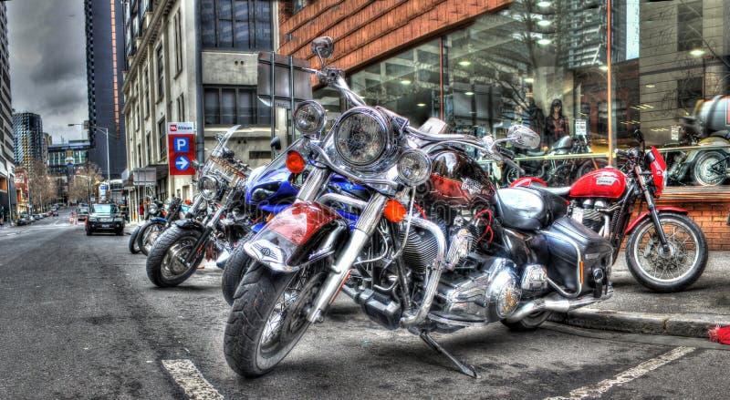 Motos de Harley Davidson photographie stock libre de droits