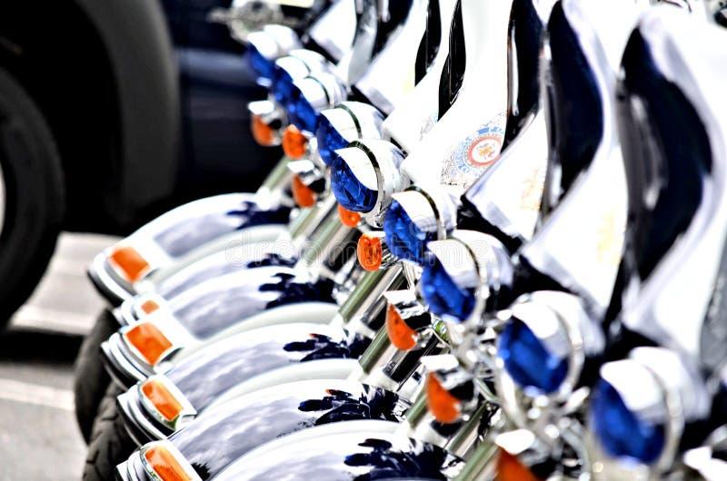 Motos de police photo stock