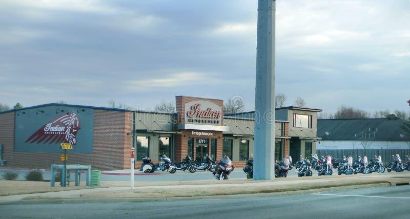 Motos indiennes, moto indienne d'héritage de l'Arkansas du nord-ouest photo stock