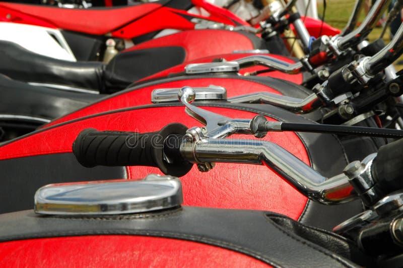 Motos rouges image libre de droits