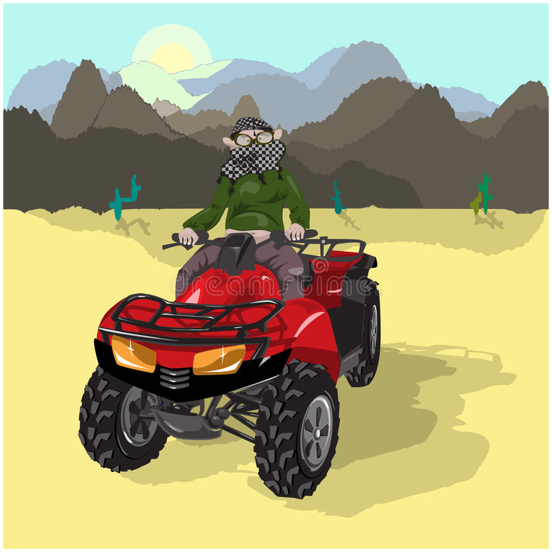 Motosafari on Desert stock images
