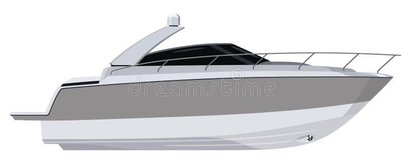 Motoscafo bianco illustrazione vettoriale