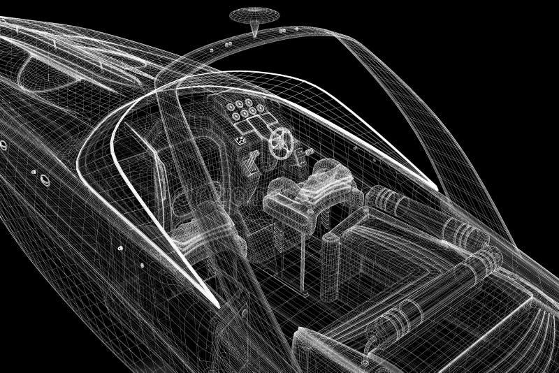 Motoscafo, fuoribordo d'accelerazione illustrazione vettoriale