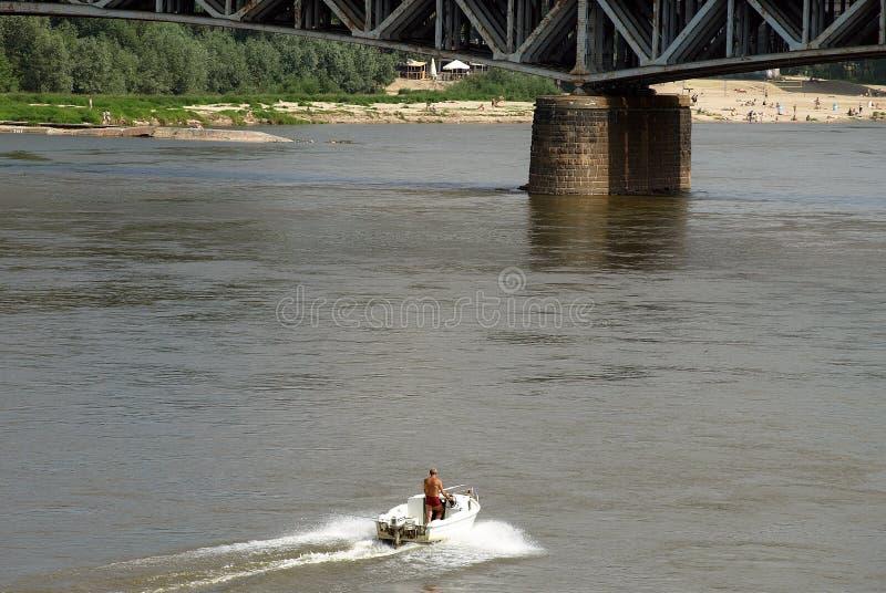 Motoscafo sul fiume immagini stock libere da diritti