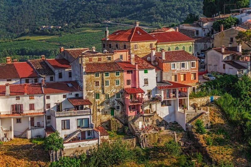 Motovun - Croacia fotos de archivo