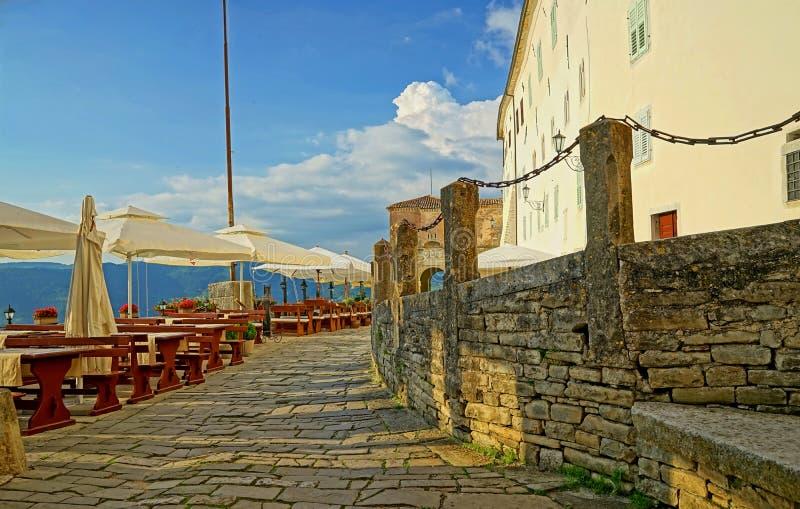 Motovun medieval town. Medieval town entrance gate in the picturesque city of Motovun, Croatia stock photos