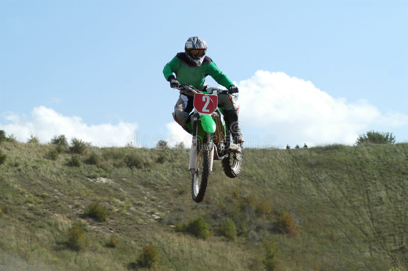 motoX springend stock fotografie