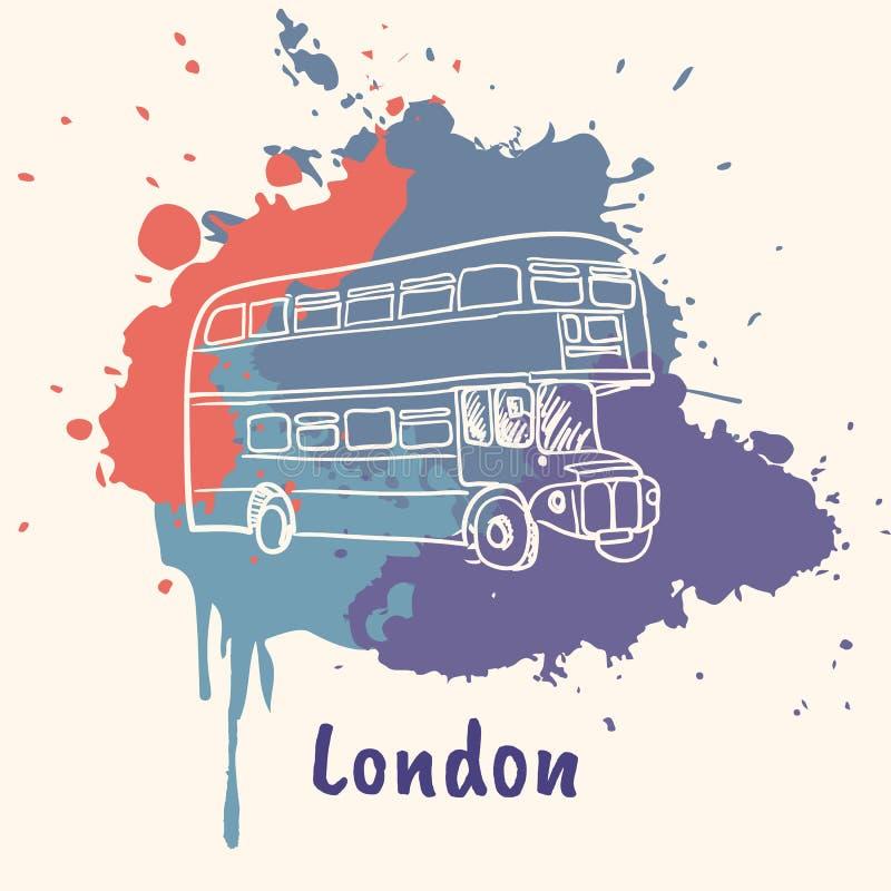 Motriz emotivo inglês com atrações culturais ilustração royalty free