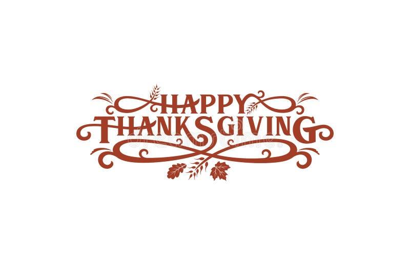 Mots-clés de Thanksgiving illustration stock