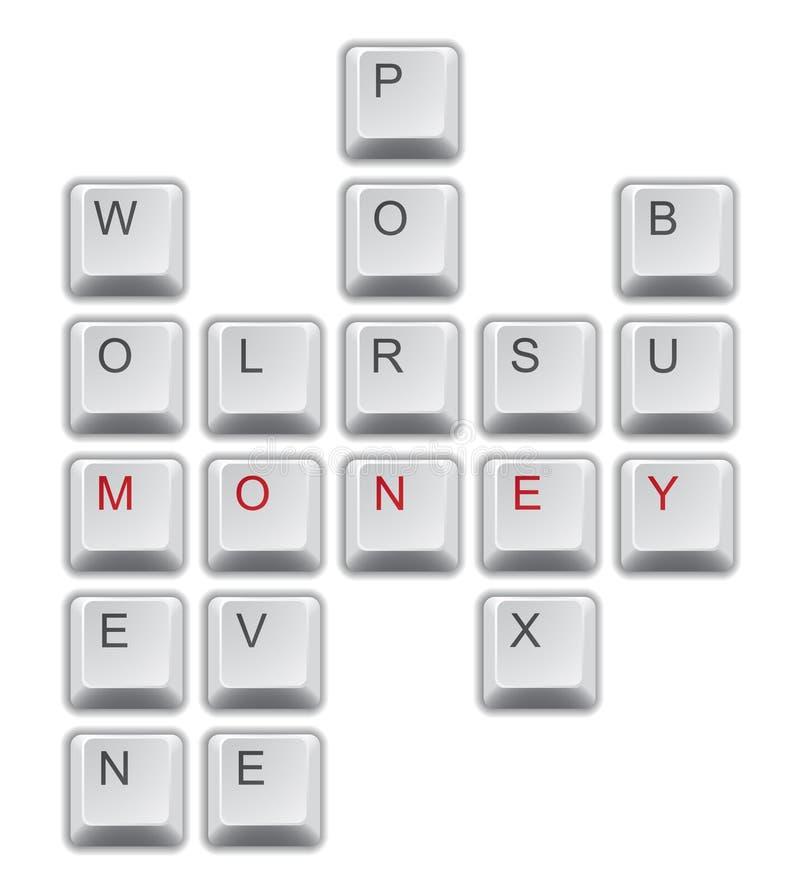 Mots croisé d'argent illustration libre de droits