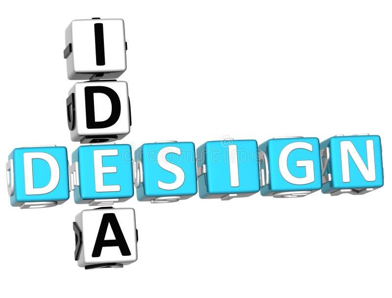Mots croisé d'idée de conception illustration stock