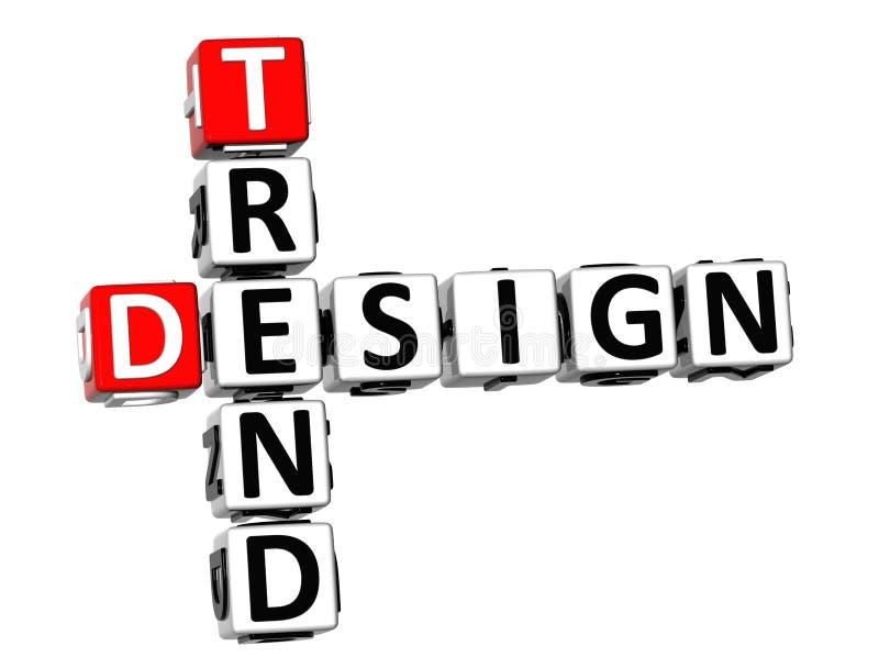 mots croisé de conception de la tendance 3D illustration stock