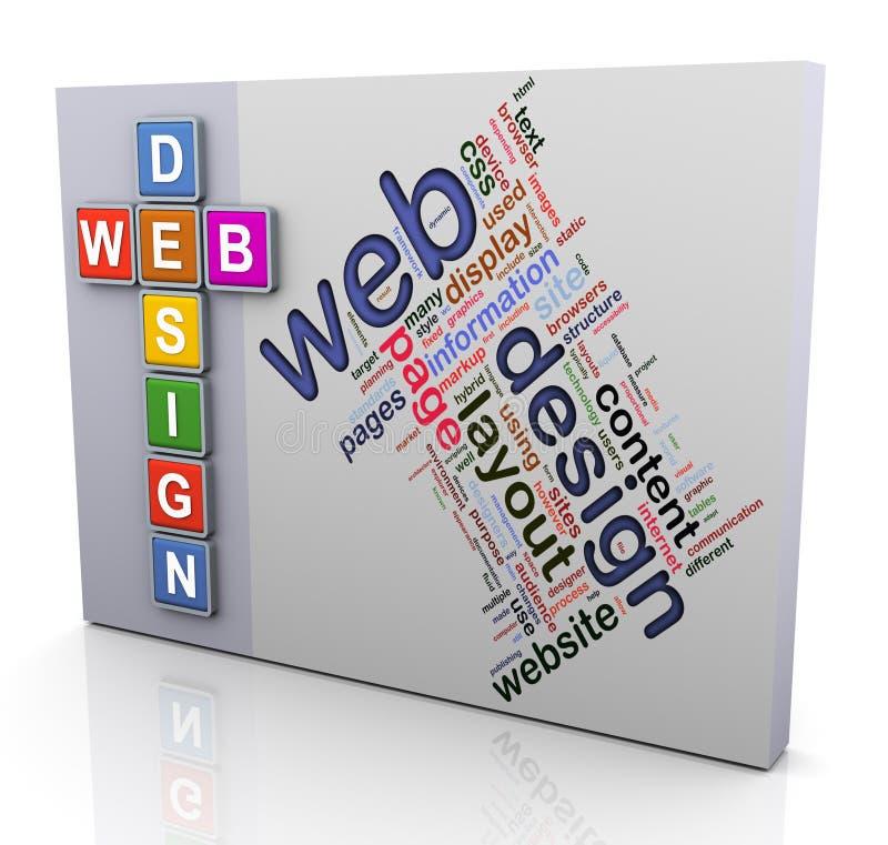Mots croisé de conception de Web illustration de vecteur
