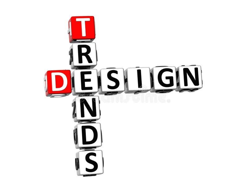 mots croisé de conception des tendances 3D illustration libre de droits