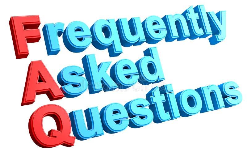 Mots croisé de FAQ illustration de vecteur