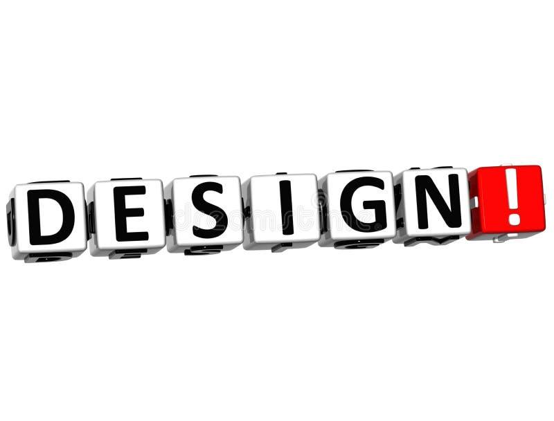 mots croisé de la conception 3D illustration de vecteur