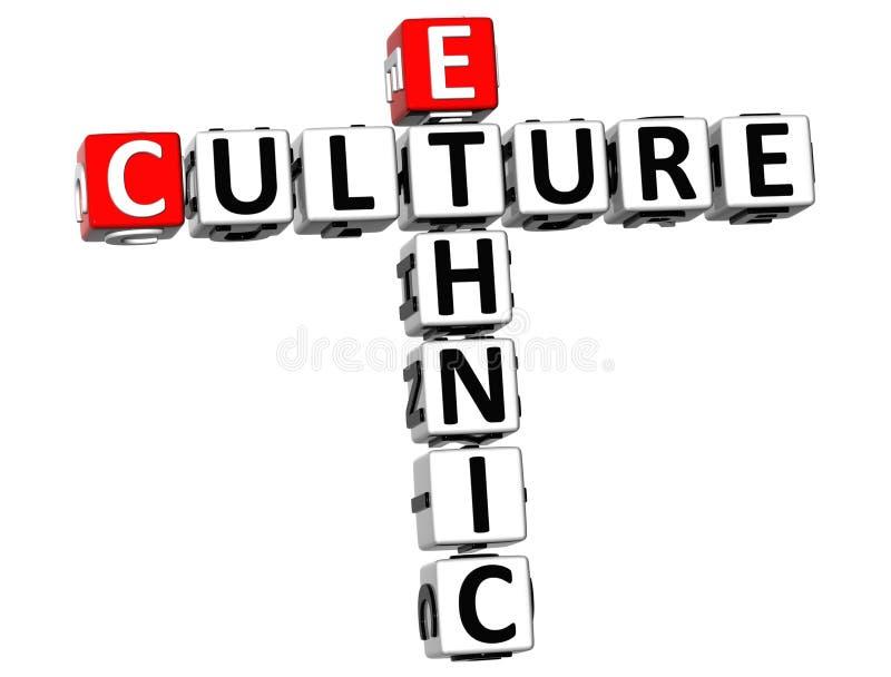 mots croisé ethniques des cultures 3D illustration stock