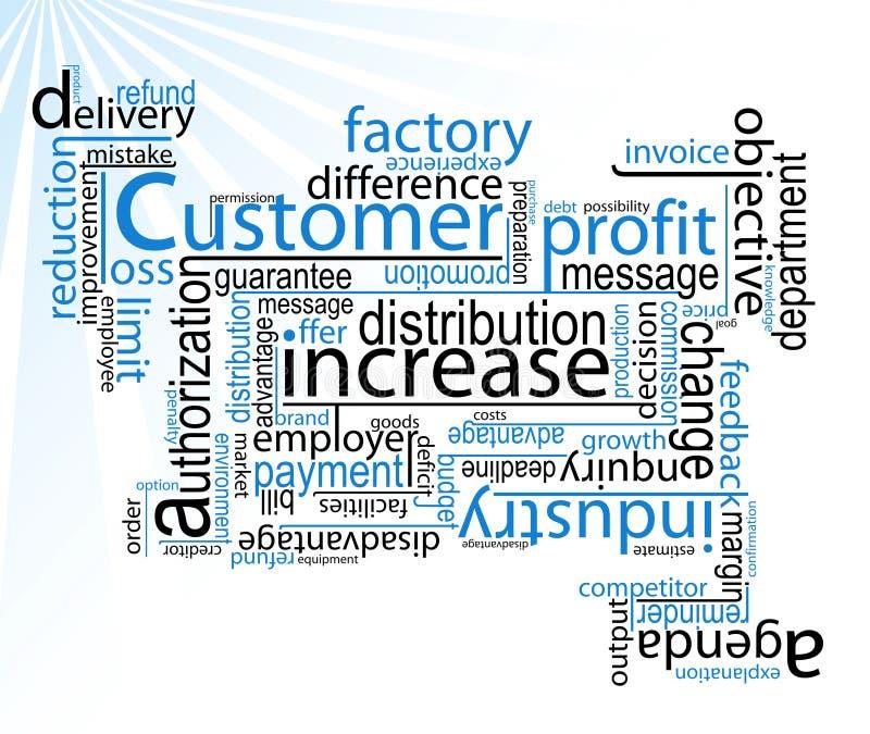 Mots d'affaires/vecteur illustration stock