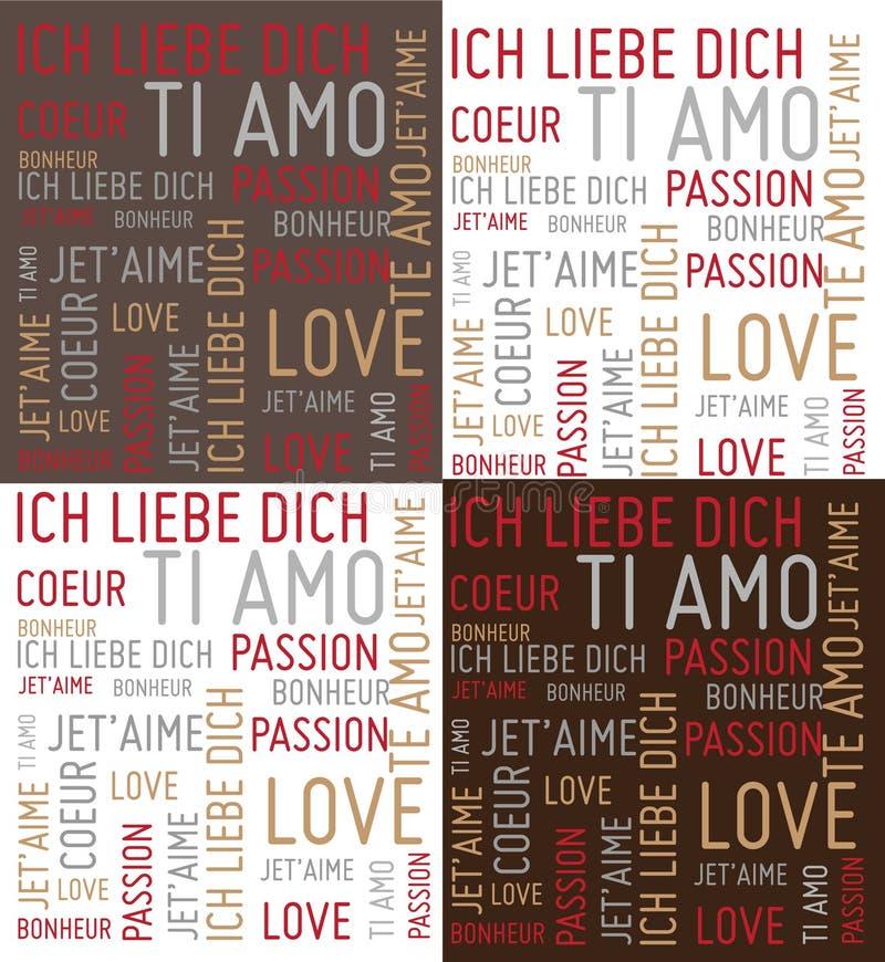 Mots d'amour illustration libre de droits