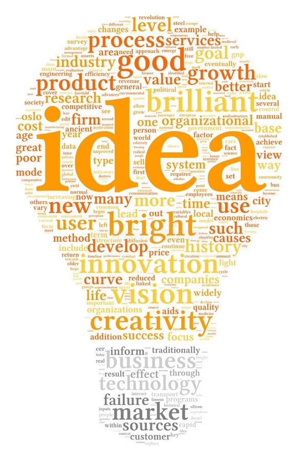 Mots de concept d'idée en nuage d'étiquette illustration de vecteur