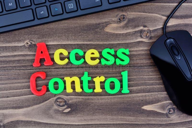 Mots de contrôle d'accès sur la table photo libre de droits