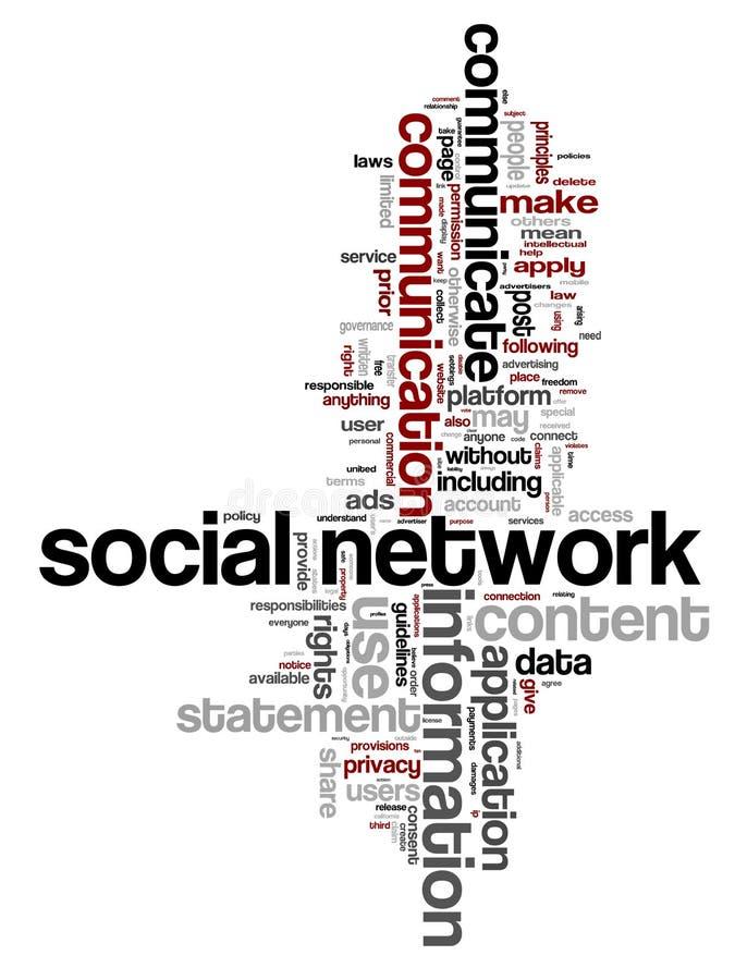Mots de gestion de réseau illustration stock