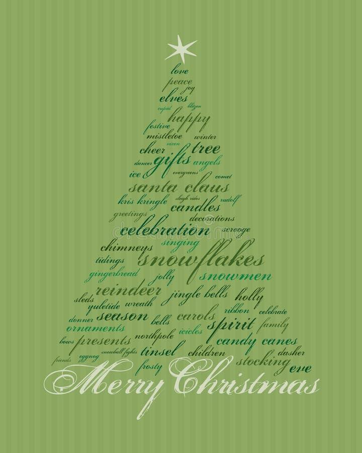 Mots de Joyeux Noël illustration libre de droits